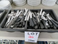 LOT including utensils w/ tray (180)