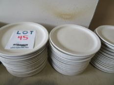 """LOT including round plates 9 1/2"""" (60)"""