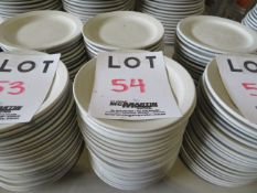 """LOT including round plates 6 1/2"""" (40)"""