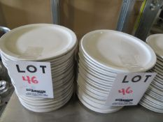 """LOT including round plates 9 1/2"""" (46)"""