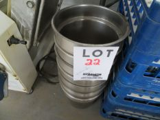 """LOT including stainless steel containers 9 1/2"""" dia. 8 1/4"""" h (7)"""