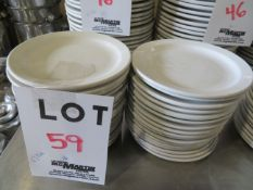 """LOT including round plates 6 1/2"""" (36)"""