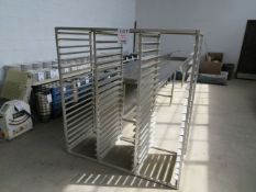 """Stainless steel tray rack approx. 59""""w x 26""""d x 63""""h"""