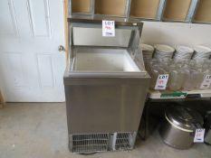 "Ice cream display freezer cabinet approx. 27""w x 27""d x 50""h"