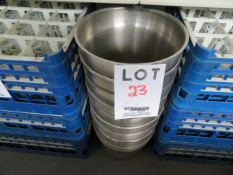 """LOT including stainless steel containers 11 1/2"""" dia. 8 1/2"""" h (7)"""