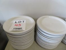 """LOT including round plates 9 1/2"""" (40)"""