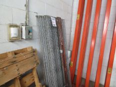 LOT including assorted stainless steel shelves