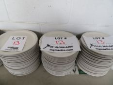 """LOT including plates 9 1/2"""" round (60)"""