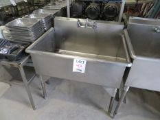 """Stainless steel sink approx. 39""""w x 28""""d x 34""""h"""