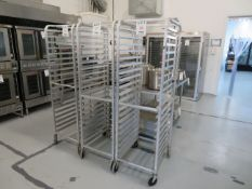 "Pan rack on wheels approx. 20""w x 69""h x 26""d"