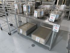 """Stainless steel table approx. 60""""w x 30""""d x 35""""h"""