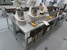 """Stainless steel table approx. 60""""w x 30""""d x 34""""h"""