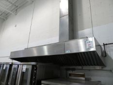 "Kitchen hood/ventilation system c/w CO2 extinguisher system approx. 120""w x 39""d"