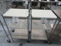 """Lot including carts on wheels approx. 19""""w x 15""""d x35""""h (2)"""