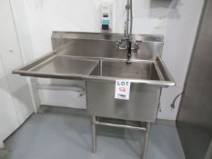 """Stainless steel sink w/ rincer approx. 51""""w x 30""""d x 37""""h"""