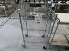 "Cart on wheels approx. 24""w x 18""d x 40""h"