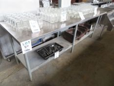 """Stainless steel table approx. 96""""w x 30""""d x 34""""h"""