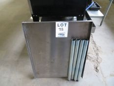 """Stainless steel table 24"""" x 30"""" (AS IS)"""
