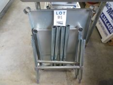 """LOT including (2) assorted stainless steel tables (AS IS ) 30"""" x 22"""" & 17"""" x 22"""""""