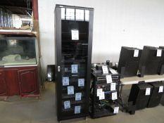 "Audio cabinet w/t glass, approx. 23""w x 22""d x 80""h"