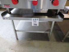 """Stainless steel table approx. 36""""w x 30""""d x 24""""h"""