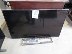 """SONY 49"""" TV w/ wall bracket, Mod: KD49X750F (AS IS)"""