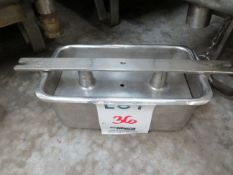 """LOT including molds in stainless steel for ham, etc. approx. 6 1/4"""" x 12"""" (41)"""