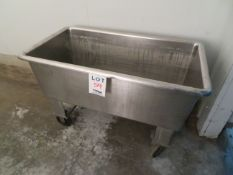 """Stainless steel tub approx. 48""""w x 25""""d x 31""""h"""