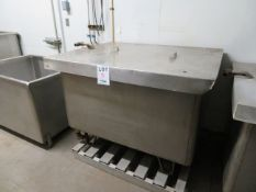 """Stainless steel tub approx. 51""""w x 37""""d x 40""""h"""