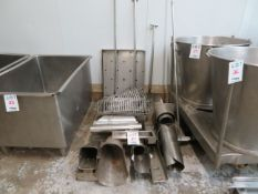 LOT including assorted stainless steel items
