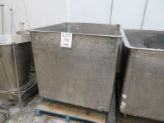 """Stainless steel tub approx. 42""""w x 48'd x 44""""h"""