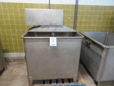 "KNUD SIMONSEN IND stainless steel tub w/ mixer, Mod: 1800 EM, approx. 43""w x 42""d x 41""h"