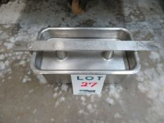 """LOT including molds in stainless steel for ham, etc. approx. 6 1/4"""" x 12"""" (24)"""
