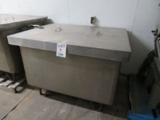"""Stainless steel tub approx. 52""""w x 37""""d x 41""""h"""