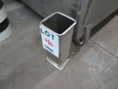 """LOT including molds in stainless steel for mock chicken, etc. approx. 4"""" x 4"""" x 11 1/2"""" (132)"""