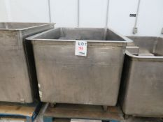"""Stainless steel tub approx. 42""""w x 55""""d x 41""""h"""