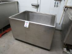 """Stainless steel tub approx. 50""""w x 38""""d x 34""""h"""