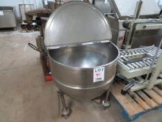 """Stainless steel kettle approx. 33"""" round x 36"""" h"""