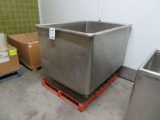 """Stainless steel tub approx. 54""""w x 44""""d x 41""""h"""