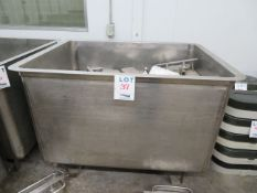 """Stainless steel tub approx. 42""""w x 55""""d x 40""""h"""