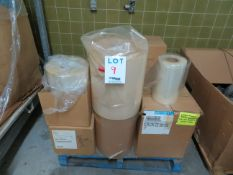 LOT including assorted plastic rolls in different sizes (14)