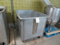 """Stainless steel kettle on wheels approx. 41""""w x 49""""d x 40""""h"""