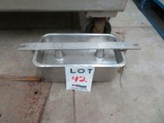 """LOT including molds in stainless steel for ham, etc. approx. 48"""" x 36"""" x 38"""" (41)"""