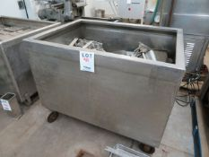 """Stainless steel tub approx. 48""""w x 36""""d x 38""""h"""