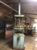 "50-Ton 4-Post Hydraulic Press, Asset #P3105; with 30"" x 30"" Drilled and Tapped Bed and Ram"