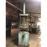 """50-Ton 4-Post Hydraulic Press, Asset #P3105; with 30"""" x 30"""" Drilled and Tapped Bed and Ram"""