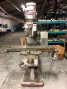 "Bridgeport Vertical Milling Machine, S/N BR12 49797, (1960), 1.5 hp; with 9"" x 42"" T-Slot Worktable"