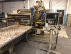 "Komo Model VR 512 2-Spindle 3-Axis CNC Router, S/N 138629, (1995); 144"" x 60"", (2) 16 hp Spindles,"
