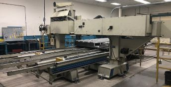 "Komo Model VR1008TT 4-Spindle 4-Axis CNC Router, S/N 1548595, (1995); 169"" X-, 144"" Y-, and 14.5"""