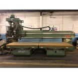 """Shoda Model NCW516-1352 2-Spindle Vertical CNC Router, S/N Z76A71901, (1997); 52"""" x 168"""" Table, 172"""""""
